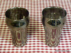 2 SILVERED GLASSES MADE BY FEDERAL GLASS CO. ~ BELL SHAPE  Tumblers 8 OZ.