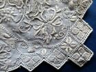 EXQUISITE VINTAGE HEAVILY HAND EMBROIDERED~MADEIRAWORK~LINEN~HANKY~INTRICATE
