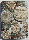 PUNCH STUDIO Set of 5 Gold Foil 3D Dimensional Christmas Note Cards Ornaments