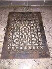 Vintage Floor / Wall Heat Register Metal Vent  Antique Grate Black