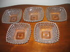 Lot of 5 Anchor Hocking Early American ~ Clear Small Fruit Dessert Bowls 4.75