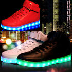 Unisex High Low Top LED Lighted USB Charger Sports Shoes Lace Up Sneaker