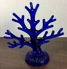 vintage cobalt blue glass Moon Stars Tree