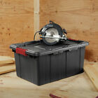 Industrial Storage Tote 6 Pack Sterilite 15 Gal Black Heavy Duty Containers Bins