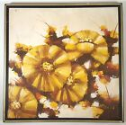 MID-CENTURY MODERN OIL PAINTING ABSTRACT FLOWERS LEE REYNOLDS ERA ARTIST SIGNED