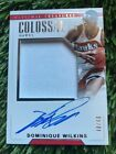 2017-18 NATIONAL TREASURES DOMINIQUE WILKINS COLOSSAL AUTO 40 49