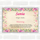 Sania Name Meaning Jumbo Fridge Magnet Floral