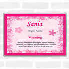 Sania Name Meaning Jumbo Fridge Magnet Pink