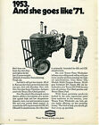 1971 Texaco Motor Oil Print Ad with a 1953 Massey Harris 44 Tractor