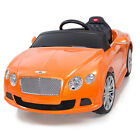 Licensed Bentley Power 12V Wheels Battery Remote Control Music MP3 Sound Orange