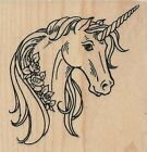 Unicorn Rose Rubber Stamp by Stampendous
