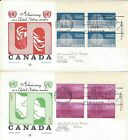 1970 #513-4 United Nations 25th Anniversary UR PL BLK set FDC with Cole cachet
