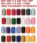 Embroidery Machine Viscose Rayon Silk Threads 2500 yards Each BUY 2  GET 1 FREE