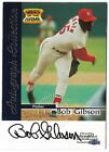 BOB GIBSON 1999 FLEER SPORTS ILLUSTRATED GREATS OF THE GAME AUTO AUTOGRAPH CARD!