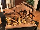 Vintage Nativity Set Wood 8 Figures Lifelike Details Christmas Nativity Set