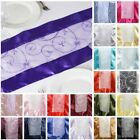 10 Embroidered 14x108 Table RUNNERS with SATIN EDGES Wedding Party Linens