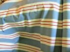 Woven Cotton Nautical Coastal Stripe Drapery Upholstery Fabric 59 BTY blue Red