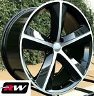 Dodge Challenger SRT8 OE Factory Replica Black 20x9 Wheels Machined Rims 20 inch
