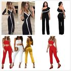 Womens Ladies Summer Jumpsuits Ladies Rompers Dress Pamts Set Playsuit Clubwear