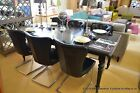 Eichholtz Extending Dining Table + 6 Black Dining Chairs Ex Display from Harrods