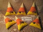 6 Prim Halloween fabric Candy Corn bowl fillers wreath-making Country Home Decor