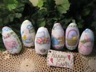 6 handmade fabric Easter rabbit eggs bowl fillers Traditional Cottage Home Decor