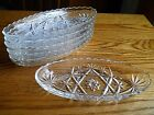 VINTAGE BANANA SPLIT BOAT DISH  PRESSED GLASS *LOT OF 6 MATCHING* RELISH DISH