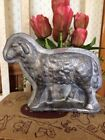 Primitive Antique Tin Style Sheep Lamb Silver Solid Resin Chocolate Mold Easter