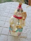 CHRISTOPHER RADKO SNOW DANCING BLOWN GLASS ORNAMENT SNOWMAN KIDS DANCE 1994