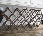 VINTAGE FOLDING BROWN BAMBOO WINE RACK HOLDS 14 BOTTLES - GREAT STYLE
