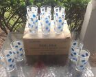 Vintage NIB Set 10 Hazel (Atlas) Ware Blue Moon Drink Glass Tumbler Polka Dot