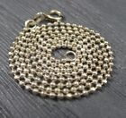 Vintage Sterling Silver Beaded Chain Link Necklace 16 inches
