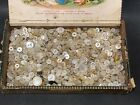 1.75lb lot antique vintage clothing buttons MOP Abalone Mother of Pearl Shell ES