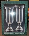 BRAND NEW International Silver Company Co Set Pair 2 Hurricane Candle Holders