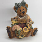 Boyds Bear Valentines Day Justina Message Bearer I Love You Heart Flowers #2273