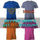 5 PACK AAA BIG AND TALL MENS SHIRT SHORT SLEEVE T SHIRT PLAIN TEE SOLID CASUAL