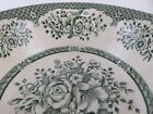 American 19th Century Green Transferware Ceramic Serving Bowl
