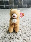 Ty Hope Beanie Babie Rare with Multiple Errors Praying Bear