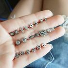 11 Pairs Boho Silver Earring Set Women Peace Symbols Earring Jewelry Popular--