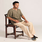 Chinese traditional men's linen Kung Fu Party  shirts/tops  Size: M to 3XL