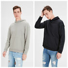 Sweat-shirt Jack et Jones original 12123269 homme à capuchon gris noir a chuté é