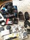 Canon EOS Rebel SL1 EOS 100D 180MP Digital SLR Black Camera Kit with extras