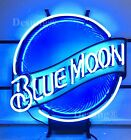Rare New Blue Moon Beer Bar Neon Sign 19x15 with HD Vivid Printing Technology