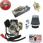 Carb Gy6 60cc Carburetor Moped Scooter Air filter Pl 50cc 49cc 19mm PD19J Taotao