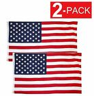 2x3 American Flag w Grommets USA United States of America US Flags 2 Pack