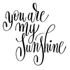 You Are My Sunshine Vinyl Decal Sticker Home Wall Cup Decor Choose Size Color