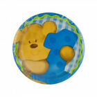 Bears First Birthday Paper Plate Toddler Boy Party Disposable Blue Animal Print