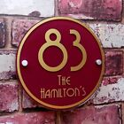 Custom Personalised House Sign Door Number Address Plaque Modern Glass Effect