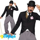 Charlie Chaplin Costume 1920s Mens Silent Movie Film Star Fancy Dress Outfit