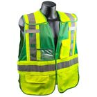 Full Source Reflective Ems Safety Vest With Pockets Green